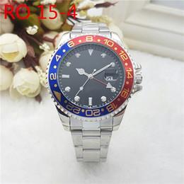 Brand Luxury Style Watch Australia - Luxury Brand GMT Steel Mens Watch Quartz Movement Ceramic Style Pepsi Batman BLRO AAA Relogio Mens Watches