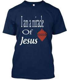 $enCountryForm.capitalKeyWord NZ - I Am A Miracle of Jesus Standard Unisex T-Shirt (S-3XL) Tees Shirt Men Boy XXXL Custom Short Sleeve Plus Size Men's T Shirts