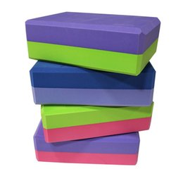 Discount blue foam blocks - Sport Trainning Yoga Foam Block Fitness Pilates Brick Muscle Massage Equipment Blocks For Sport Yoga Workout Training