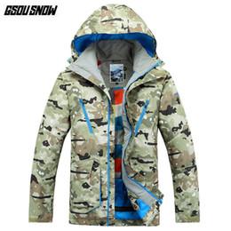 9e00ead701 Winter Ski Clothing Brands Australia - GSOU SNOW Brand Ski Jackets Men Camo  Hoodie Skiing Snowboarding