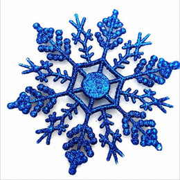 12pcs lot christmas ornaments snowflakes christmas decoration home window christmas tree new years gift decoration factory direct supplies - Blue And Silver Christmas Ornaments