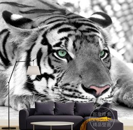$enCountryForm.capitalKeyWord NZ - Custom 3d wall murals wallpaper 3d photo wallpaper murals Modern personality black and white tiger mural TV background wallpapers home decor