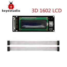 China Keyestudio LCD1602 Display 3D Module With SD Card Slot + 30cm Cable For Arduino   3D Printer supplier arduino printer suppliers