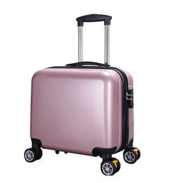 """$enCountryForm.capitalKeyWord Canada - Rolling Suitcase Carry on Luggage Trolley Spinner Luggage Fashion Suitcase Travel ABS Travel Bgs 6colors 18"""""""