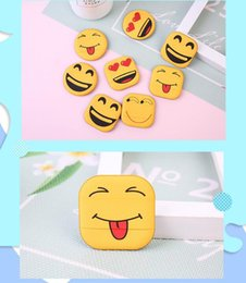 latex free makeup NZ - Free DHL New Emoji Face Powder Sponge Foundation Cosmetic Tools Beauty Face Foundation Latex Smooth Puff Makeup Sponges