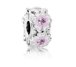 $enCountryForm.capitalKeyWord UK - Fit Sterling Silver Bracelet Anti-Drop-Clip Button Magnolia 3mm Hole European Stopper Clip Lock Charm Fit pandora Bracelet jewelry findings