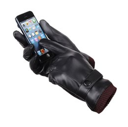 $enCountryForm.capitalKeyWord Australia - Leather gloves new wholesale men's touch screen gloves winter outdoor sports cycling motorcycle thick warm gloves