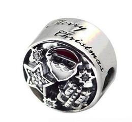 $enCountryForm.capitalKeyWord UK - Christmas Joy Charms Genuine 925 Sterling Silver Mixed Enamel Clear CZ Beads Fits Pandora Bracelets Jewelry Making