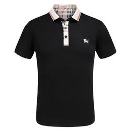 Diseñador de la marca Polo Camisa de verano Hombres Tops Ropa de manga corta con patrón Moda de alta calidad Marcas de lujo Camisas imitadas en venta