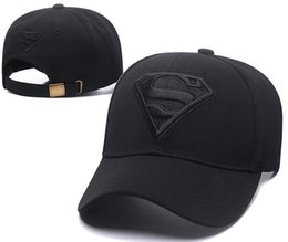 1fb9ad00 Good Sale Fashion Superman peaked cap Snapback Hats Men Women Sport Snap  back Summer Truck Mesh Cap Hip Hop lorry Adjustable Hat