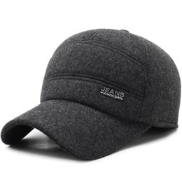 78c354e3f7b Men s Winter Warm Woolen Peaked Baseball Cap Adjustable Dad Hat With Fold  Earmuffs Baseballmütze Chapeau Sombrero