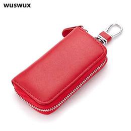 $enCountryForm.capitalKeyWord Canada - fashion key wallet Genuine leather Multifunctional car key cases wallets waist hanging key Holders 7 colors good quality
