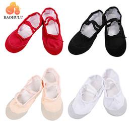 Comfortable Soft Women Shoes Australia - 2018 BAOHULU Child Girl Soft Split Sole Breathable Leather Tip Dance Ballet Shoes Comfortable Breathable Fitness 4Colors
