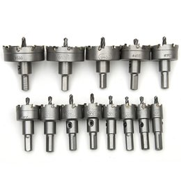 drill bit speed NZ - 13Pcs 16mm-53mm Core Drill Bit Metal Hole Saw High Speed Steel Core Special for HSS Stainless Steel