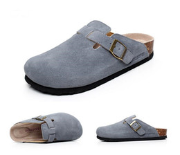 China Men Shoes Cow Leather Summer Women Fashion Beach Slippers Genuine Leather Top Quality Slipppers Massage Leather Women Men Slippers Beach Sh suppliers
