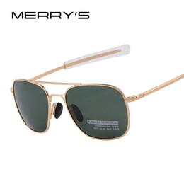 Wholesale Lense Glasses Australia - 2016 New Army AO Sunglasses American Optical Glass Lense Alloy Frame Quality Polarized Sunglasses Oculos De Sol