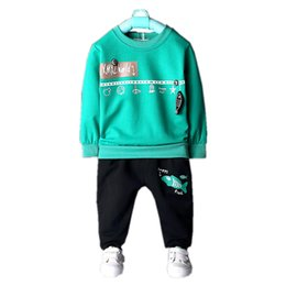 $enCountryForm.capitalKeyWord UK - Fashion Children Pure Cotton Outfit Baby Boy Girls Cartoon Fish T-shirt Pants 2 Piece Tracksuits 2018 Spring Autumn Kdis Clothes