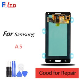 samsung a5 touch display Australia - Super AMOLED HD for Samsung Galaxy A5 2015 A5000 A500 LCD Display Digitizer with Touch Assembly Screen Replacement 100% Tested