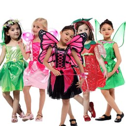 ... Umorden Pink Erfly Fairy Costumes S Kids Forest Woodland Green Elf Fairy  Costume Cosplay Tinker Bell ...