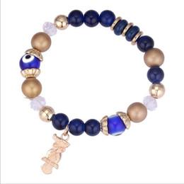 perline Bracciale 2018 nuovo marchio Fashion Vintage Ethnic Elasticity Marmo Boho gufo perle di vetro Braccialetto per i monili all'ingrosso delle donne