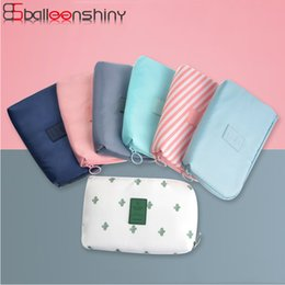 Flash Drive Storage Australia - BalleenShiny Portable Travel Digital Storage Bag Empty USB Data Cable Earphone Multifunction Data Cables Flash Drives