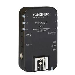 Toptan satış Nikon DSLR fotoğraf makinesi Speedlite SB910 SB900 için 1pcs YONGNUO TTL Transceiver i-TTL 2.4G Kablosuz Flaş Tetik YN622N II HSS 1/8000