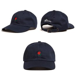 4f7cda28079 Wholesale- Rose Dad Hats Candy Color Embroidery Baseball Cap For Men Women  Boy Girl Drake 6 God Hip Hop Snapbacks Fitted Trucker Hat Bone