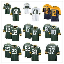 b4e393240 Green Bays Packers Jersey 80 Jimmy Graham 12 Aaron Rodgers 23 Jaire  Alexander 37 Jackson 4 Brett Favre 17 Davante Adams 52 Clay Matthews
