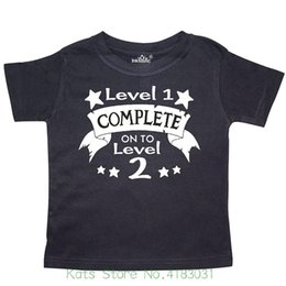 Level 1 Complete On To 2 2nd Birthday Toddler T Shirt Men 2018 Brand Clothing Tees Casual
