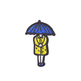 $enCountryForm.capitalKeyWord UK - Diy Umbrella Girl Applique Cute Patches for Glue Embroidery Clothing Patch for Kid Garment Ironinng on Transfer Patch Accessories Decoration