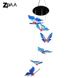 $enCountryForm.capitalKeyWord UK - Outdoor Windlights Solar Powered LED Changing Light Color Butterfly Wind Chimes Garden Lights for Gardening Lighting Decoration