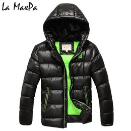 Boys Parkas Australia - 6-13 Years Children Boys Winter Coat Jacket Fashion Hooded Parkas Wadded Outerwear Thicken Warm Outer Clothing 2018 High Quality