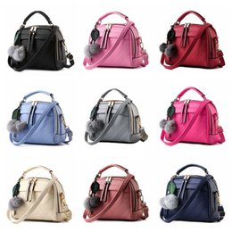 $enCountryForm.capitalKeyWord Canada - New Sale Pu Leather Women Leather Handbag Hairball Women Messenger Bags Pouch Shoulder Crossbody Bags For Women DB5823