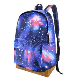 0df18cd05256 Стильная Планета пространство печати школьная сумка девушка улица женщины  женский холст ноутбук рюкзак повседневная дешевые ранец