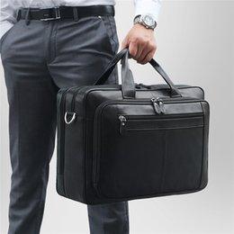 Discount large leather laptop bags - Nesitu Large Black Coffee Genuine Leather 14'' 15.6'' 17'' Laptop Men Briefcase Portfolio
