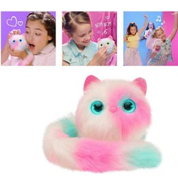 $enCountryForm.capitalKeyWord NZ - 004 Pom sies Patches Plush Interactive Pinky Toys With Brush Tickle Cuddle Dance Eyes Color Changing Lovable Wearable Kids Christmas Gifts