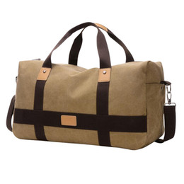 9e232a861e42 Man Travel Bags Thickening Canvas Fashion Luggage Packing Cubes Bag  Weekender Traveling Duffle Bag Men X085