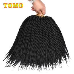 $enCountryForm.capitalKeyWord Australia - TOMO Senegalese Twist Crochet Braiding Hair Extensions Ombre Kanekalon Synthetic Hair Crochet Braiding Hair For Black Women 12 roots pack