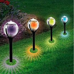 Solar Landscape Led Lawn Lamps Ball Shaped LED Outdoor Lighting Solar Garden  Light Colorful Decor Light Plastic And Stainless Steel