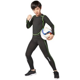 Kids Leggings Boys NZ - Kids compression base layer running sets boys girls sports gym leggings soccer football basketball fitness pants shirts tights