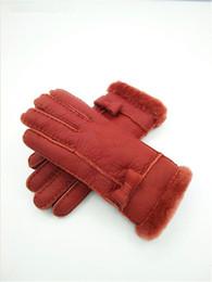 Leather Wrist Gloves Australia - Free Shipping - Fashion women Winter Leather Gloves 100% Wool Gloves Warm Gloves women Quality Assurance