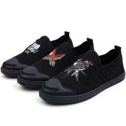 China Men Trendy Embroidery Loafers Dress Shoes Italy Male Homecoming Prom Party Pageant Wedding Shoes Moccasins Slip On Lazy Driving Shoes Q-252 cheap trendy wedding dresses suppliers