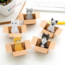 Cat stiCky notes online shopping - Cute Kitty House Kawaii Magnetic Paper pad Bookmark Lovely Cat dog Book Marks Office School Supplies Sticker Sticky Notes