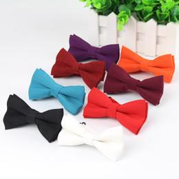 $enCountryForm.capitalKeyWord NZ - Children Fashion Formal Cotton Bow Tie Kid Classical Soild Bowties Colorful Butterfly Wedding Party Pet Bowtie Tuxedo Ties