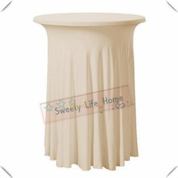 $enCountryForm.capitalKeyWord NZ - New Fashion free shipping Strech spandex Cocktail table cover Lycra table cloths 70cm*110cm Champange Ruffled table cover