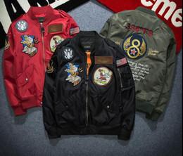 military motorcycle jackets 2019 - New Fashion NASA Bomber Jacket Men Ma-1 Flight Jacket Pilot Force Male Ma1 Army Green Military motorcycle Jackets Coats