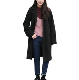 $enCountryForm.capitalKeyWord Canada - Womens Warm Jacket Women Coats European style Long Sleeve Casual Long Trench Coats Maxi Dovetail Fashion Slim Black Outwear #8*