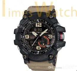 Wholesale New Top Quality relogio GG1000 Compass Thermometer Army Men s Sports Watch Military All Functions SHOCK Resist Water Wristwatch Full Package