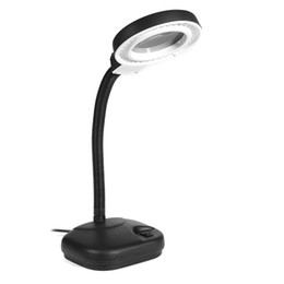 Chinese  220V 40 LEDs Portable Table Light Glass Magnifier InspectionTable Lamp 360 Flexible Energy-saving Night Light For Work Study manufacturers