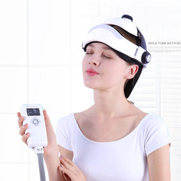Wholesale New Generation Intelligent Electric Multi Frequency Head Massage Device Hot Therpay Headache Relief Head Relax Massager Music Play